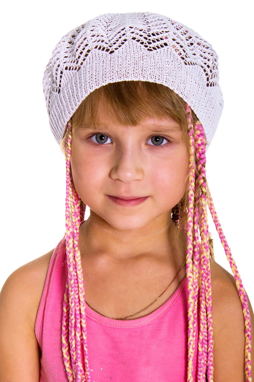 БеретГоловные уборы<br>Берет для девочки защитит Вашего ребенка от непогоды и поднимет настроение.  Цвет: белый<br><br>По сезону: Лето<br>Размер : 50-52<br>Материал: Вязаное полотно<br>Количество в наличии: 1