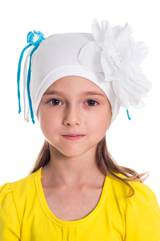 ШапочкаГоловные уборы<br>Шапка для девочки защитит Вашего ребенка от непогоды и поднимет настроение.  Размер равен обхвату головы в сантиметрах.  Цвет: белый и др.<br><br>По сезону: Осень,Весна<br>Размер : 50-54<br>Материал: Трикотаж<br>Количество в наличии: 2