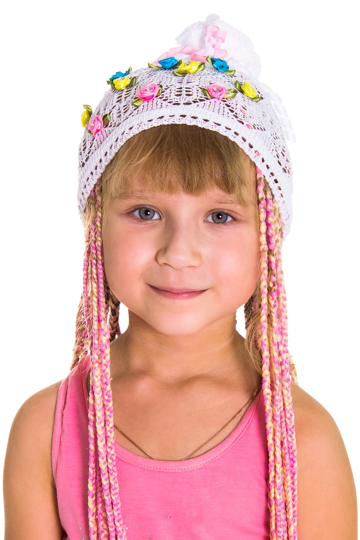 ШапкаГоловные уборы<br>Берет для девочки защитит Вашего ребенка от непогоды и поднимет настроение.  Цвет: белый<br><br>По сезону: Лето<br>Размер : 50<br>Материал: Вязаное полотно<br>Количество в наличии: 4