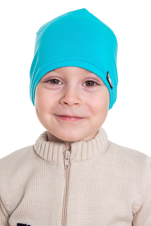 ШапочкаГоловные уборы<br>Шапочка для мальчика защитит Вашего ребенка от непогоды и поднимет настроение.  Размер равен обхвату головы в сантиметрах.  Цвет: голубой<br><br>По сезону: Осень,Весна<br>Размер : 46-48<br>Материал: Трикот<br>Количество в наличии: 19