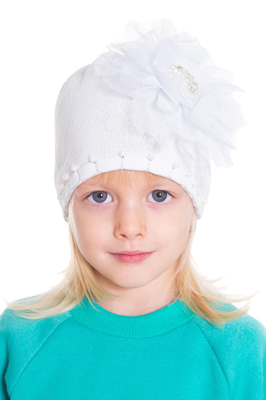 ШапкаГоловные уборы<br>Шапка для девочки защитит Вашего ребенка от непогоды и поднимет настроение.  Размер равен обхвату головы в сантиметрах.  Цвет: белый  Сезон весенне-осенний. Толщина одинарная.<br><br>По сезону: Осень,Весна<br>Размер: 46-48<br>Материал: 70% хлопок 30% полиэстер<br>Количество в наличии: 1