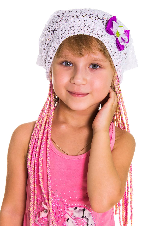 ШапкаГоловные уборы<br>Берет для девочки защитит Вашего ребенка от непогоды и поднимет настроение.  Цвет: белый<br><br>По сезону: Лето<br>Размер : 48-50<br>Материал: Вязаное полотно<br>Количество в наличии: 1