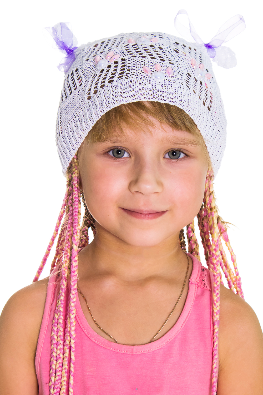 ШапкаГоловные уборы<br>Берет для девочки защитит Вашего ребенка от непогоды и поднимет настроение.  Цвет: белый<br><br>По сезону: Лето<br>Размер: 50-52<br>Материал: None<br>Количество в наличии: 2