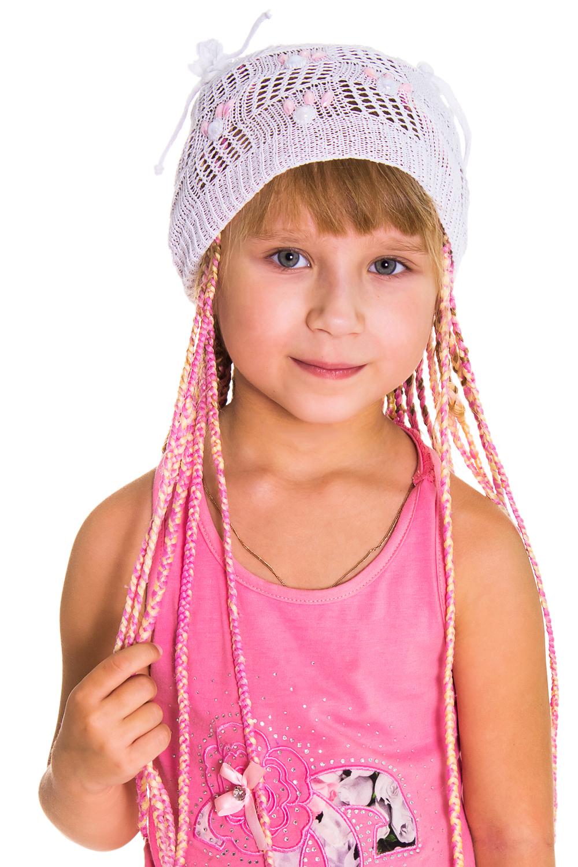 ШапкаГоловные уборы<br>Берет для девочки защитит Вашего ребенка от непогоды и поднимет настроение.  Цвет: белый<br><br>По сезону: Лето<br>Размер : 50-52<br>Материал: Вязаное полотно<br>Количество в наличии: 1