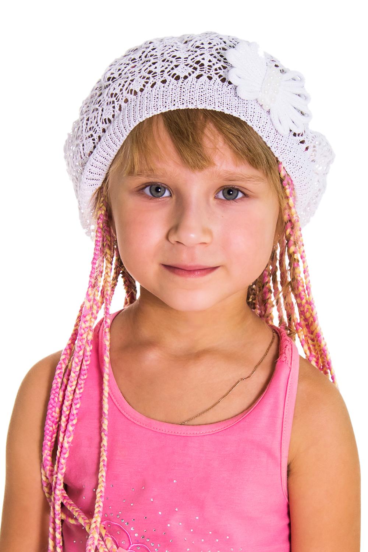 БеретГоловные уборы<br>Берет для девочки защитит Вашего ребенка от непогоды и поднимет настроение.  Цвет: белый<br><br>По сезону: Лето<br>Размер : 50-52<br>Материал: Вязаное полотно<br>Количество в наличии: 2