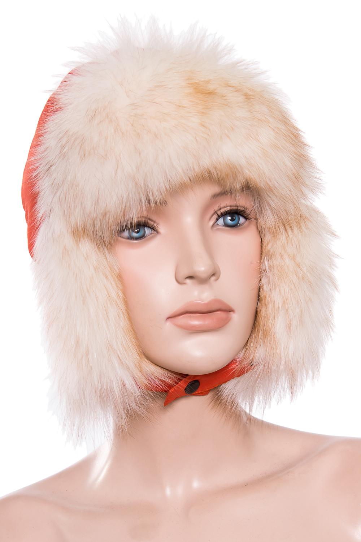 УшанкаГоловные уборы<br>Шапка-ушанка из натурального меха.  Цвет: оранжевый  Размер: 52-54 см.  Обхват головы измеряется по лобной части над уровнем бровей (на 2-3 сантиметра выше) и по самой выпуклой затылочной части.<br><br>По сезону: Зима<br>Размер : 52-54<br>Материал: Натуральный мех<br>Количество в наличии: 1