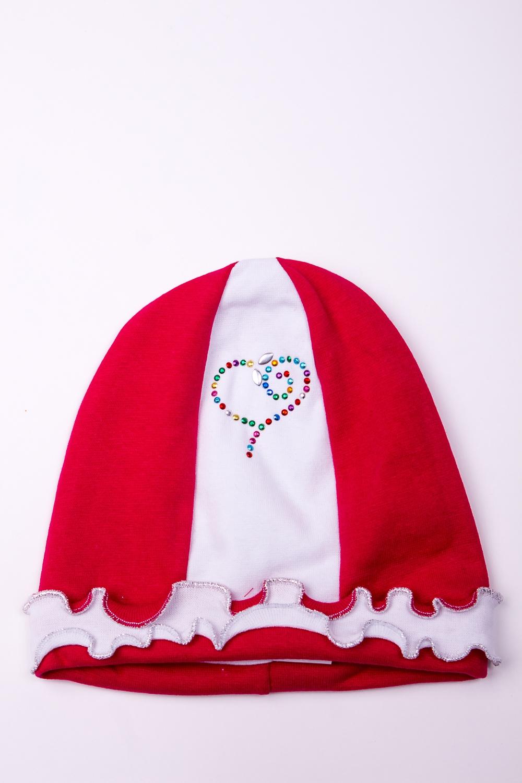 ШапкаГоловные уборы<br>Мягкая шапка для девочки  В изделии использованы цвета: красный, белый  Размер соответствует обхвату головы в сантиметрах.<br><br>По сезону: Всесезон<br>Размер : 50<br>Материал: Трикотаж<br>Количество в наличии: 1