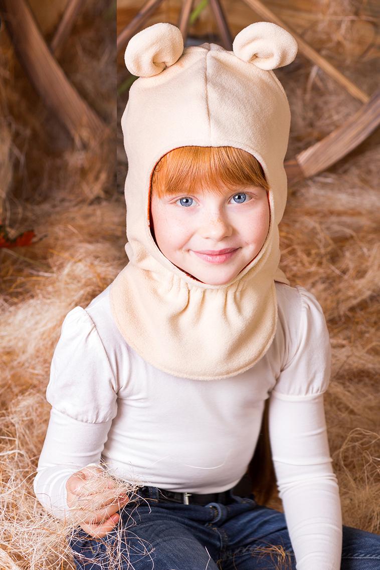 ШапкаГоловные уборы<br>Шапочка защитит Вашего ребенка от непогоды и поднимет настроение.  Размер равен обхвату головы в сантиметрах.  С подкладом, подклад 100% хлопок  Цвет: бежевый<br><br>По сезону: Осень,Весна<br>Размер: 48-50,50-52,52-54,54-56<br>Материал: 100% полиэстер<br>Количество в наличии: 4
