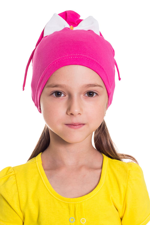 ШапочкаГоловные уборы<br>Шапка для девочки защитит Вашего ребенка от непогоды и поднимет настроение.  Размер равен обхвату головы в сантиметрах.  Цвет: розовый и др.<br><br>По сезону: Осень,Весна<br>Размер : 50-54<br>Материал: Трикотаж<br>Количество в наличии: 7