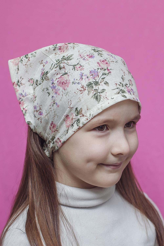КосынкаГоловные уборы<br>Трикотажная косынка защитит голову Вашего ребенка от непогоды и поднимет настроение.  Цвет: молочный и др.  Размер равен обхвату головы в сантиметрах.  Обхват головы измеряется по лобной части над уровнем бровей (на 2-3 сантиметра выше) и по самой выпуклой затылочной части.<br><br>По сезону: Лето<br>Размер : 40-45<br>Материал: Трикотаж<br>Количество в наличии: 2