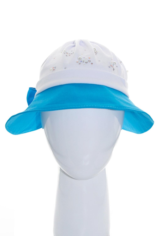ШляпаГоловные уборы<br>Чудесная детская шляпка сделает образ вашего ребенка более ярким.  Размер 50-51 см.  Цвет: белый, синий<br><br>По сезону: Лето<br>Размер: 50-51<br>Материал: 100% лен<br>Количество в наличии: 1