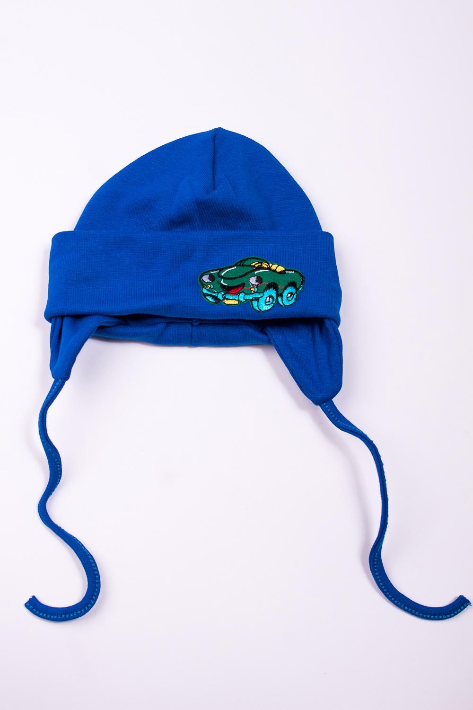 ШапкаГоловные уборы<br>Мягкая шапка для мальчика  В изделии использованы цвета: синий  Размер соответствует обхвату головы в сантиметрах.<br><br>По сезону: Осень,Весна<br>Размер : 44<br>Материал: Трикотаж<br>Количество в наличии: 1