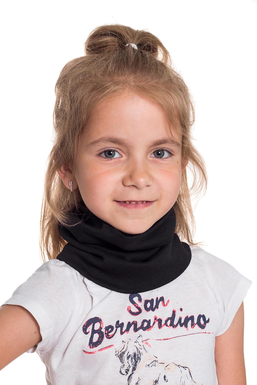 СнудПлатки и шарфы<br>Снуд защитит Вашего ребенка от непогоды и поднимет настроение.  Цвет: черный<br><br>По сезону: Осень,Весна<br>Размер : 40-45<br>Материал: Трикотаж<br>Количество в наличии: 1