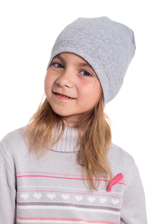 ШапкаГоловные уборы<br>Трикотажная шапка защитит голову Вашего ребенка от непогоды и поднимет настроение.  Цвет: серый  Размер равен обхвату головы в сантиметрах.  Обхват головы измеряется по лобной части над уровнем бровей (на 2-3 сантиметра выше) и по самой выпуклой затылочной части.<br><br>По сезону: Лето<br>Размер : 40-45,45-50,50-55<br>Материал: Трикотаж<br>Количество в наличии: 5