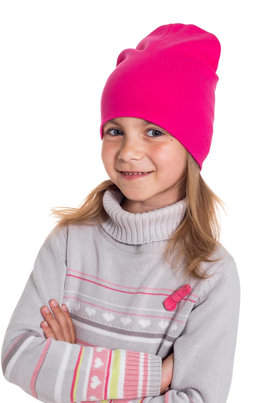 ШапкаГоловные уборы<br>Шапка для девочки защитит Вашего ребенка от непогоды и поднимет настроение.  Размер равен обхвату головы в сантиметрах.  Цвет: фуксия<br><br>По сезону: Осень,Весна<br>Размер : 40-45,45-50<br>Материал: Трикотаж<br>Количество в наличии: 4