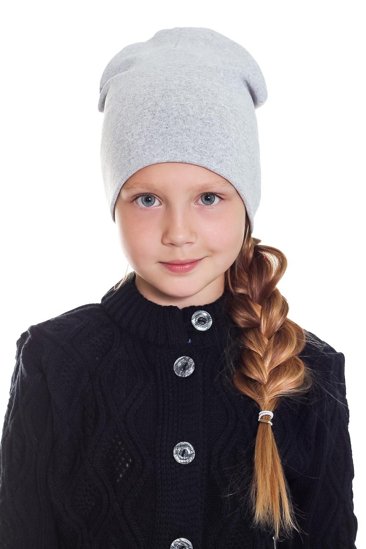 ШапкаГоловные уборы<br>Шапка для девочки защитит Вашего ребенка от непогоды и поднимет настроение.  Размер равен обхвату головы в сантиметрах.  Цвет: серый<br><br>По сезону: Осень,Весна<br>Размер : 40-45,45-50<br>Материал: Трикотаж<br>Количество в наличии: 3