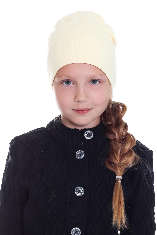 ШапкаГоловные уборы<br>Шапка для девочки защитит Вашего ребенка от непогоды и поднимет настроение.  Размер равен обхвату головы в сантиметрах.  Цвет: желтый<br><br>По сезону: Осень,Весна<br>Размер : 40-45,45-50,50-55<br>Материал: Трикотаж<br>Количество в наличии: 5
