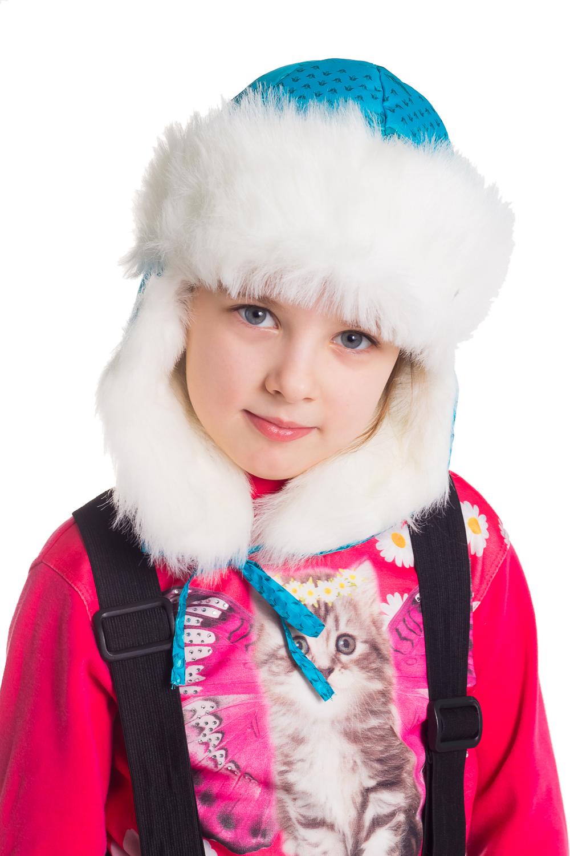 Шапка-ушанкаГоловные уборы<br>Оригинальная шапка-ушанка с возможностью разообразной конфигурации ушей  Цвет: голубой, белый<br><br>По сезону: Зима<br>Размер : 56-58<br>Материал: Полиамид<br>Количество в наличии: 2