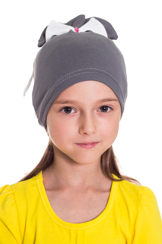 ШапочкаГоловные уборы<br>Шапка для девочки защитит Вашего ребенка от непогоды и поднимет настроение.  Размер равен обхвату головы в сантиметрах.  Цвет: серый и др.<br><br>По сезону: Осень,Весна<br>Размер : 50-54<br>Материал: Трикотаж<br>Количество в наличии: 1