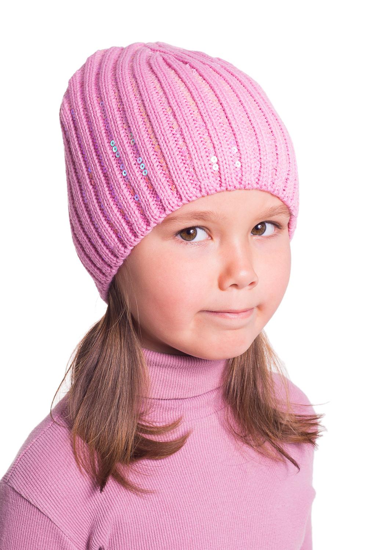 ШапкаГоловные уборы<br>Шапочка для девочки защитит Вашего ребенка от непогоды и поднимет настроение.  Цвет: розовый<br><br>По сезону: Осень,Весна<br>Размер: 54-56<br>Материал: 100% акрил<br>Количество в наличии: 1