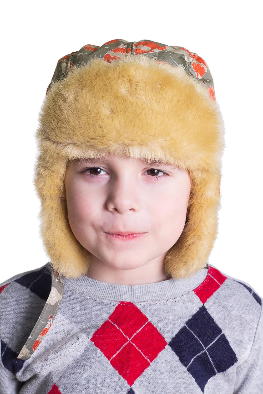 ШапкаГоловные уборы<br>Шапка-ушанка из искусственного меха.  Цвет: серый, оранжевый, желтый  Размер равен обхвату головы в сантиметрах.  Обхват головы измеряется по лобной части над уровнем бровей (на 2-3 сантиметра выше) и по самой выпуклой затылочной части.<br><br>По сезону: Зима<br>Размер : 46<br>Материал: Искусственный мех<br>Количество в наличии: 1