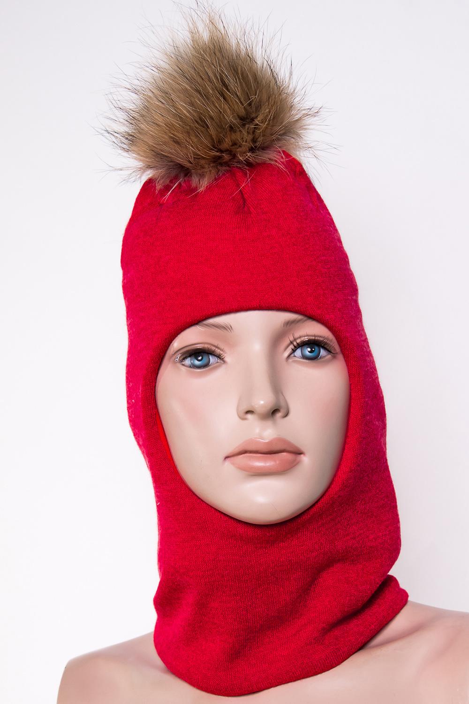ШлемГоловные уборы<br>Шлем для девочки защитит Вашего ребенка от непогоды и поднимет настроение.  Размер равен обхвату головы в сантиметрах.  Верхний слой - трикотаж,  подклад – хлопок, утеплитель – холлофайбер, помпон из натурального меха.  В изделии использованы цвета: красный<br><br>По сезону: Зима<br>Размер : 50-54,54-58<br>Материал: Вязаное полотно<br>Количество в наличии: 2