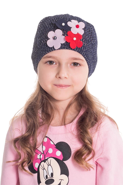 ШапкаГоловные уборы<br>Шапка для девочки защитит Вашего ребенка от непогоды и поднимет настроение.  Размер равен обхвату головы в сантиметрах.  Цвет: серый  Сезон прохладное лето.<br><br>По сезону: Осень,Весна<br>Размер : 44-46<br>Материал: Вязаное полотно<br>Количество в наличии: 1