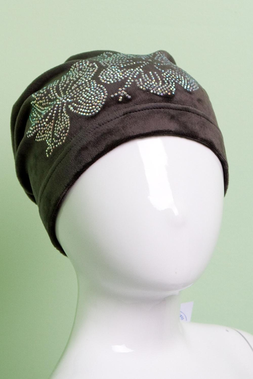 ШапкаГоловные уборы<br>Велюровая шапка для девочки защитит Вашего ребенка от непогоды и поднимет настроение.  Размер равен обхвату головы в сантиметрах.  Цвет: коричневый<br><br>По сезону: Осень,Весна<br>Размер : 54-56<br>Материал: Велюр<br>Количество в наличии: 1