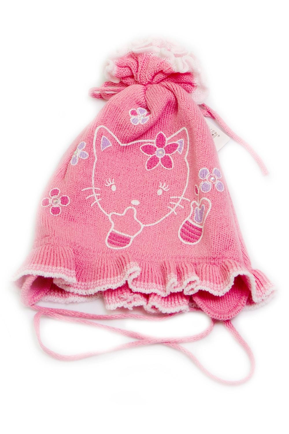 ШапкаГоловные уборы<br>Шапка для девочки защитит Вашего ребенка от непогоды и поднимет настроение.  Размер равен обхвату головы в сантиметрах.  Цвет: розовый<br><br>По сезону: Осень,Весна<br>Размер : 48-56<br>Материал: Вязаное полотно<br>Количество в наличии: 1