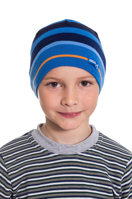 ШапкаГоловные уборы<br>Шапка для мальчика защитит Вашего ребенка от непогоды и поднимет настроение.  Размер равен обхвату головы в сантиметрах.  Цвет: синий, голубой<br><br>По сезону: Осень,Весна<br>Размер : 48-52<br>Материал: Вязаное полотно<br>Количество в наличии: 1