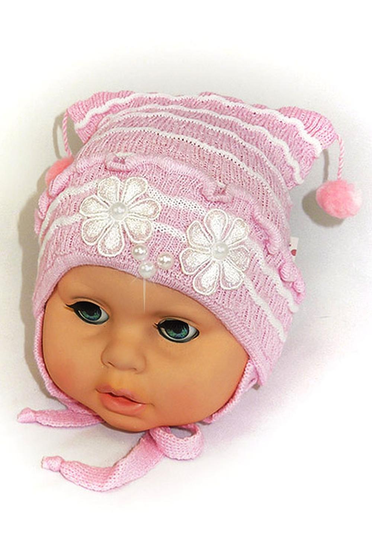 ШапкаГоловные уборы<br>Шапка для мальчика защитит Вашего ребенка от непогоды и поднимет настроение.  Размер равен обхвату головы в сантиметрах.  Цвет: розовый<br><br>По сезону: Осень,Весна<br>Размер : 44-48<br>Материал: Вязаное полотно<br>Количество в наличии: 1