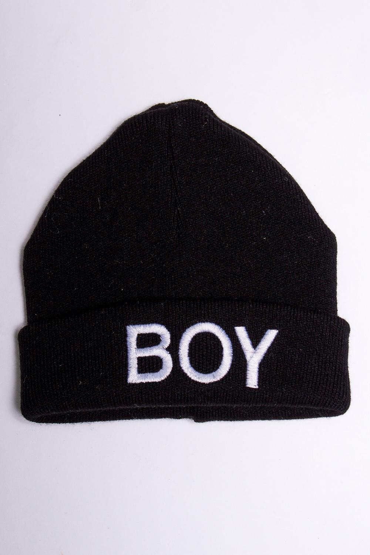 ШапкаГоловные уборы<br>Зимняя вязаная двухслойная шапка с подворотом и вышивкой.  Размер равен обхвату головы в сантиметрах.  В изделии использованы цвета: черный, белый<br><br>По сезону: Зима<br>Размер : 46-50<br>Материал: Вязаное полотно<br>Количество в наличии: 1