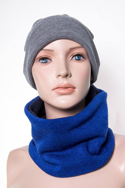 ШапкаГоловные уборы<br>Зимняя вязаная двухслойная шапка с подворотом.  Размер равен обхвату головы в сантиметрах.  В изделии использованы цвета: серый<br><br>По сезону: Зима<br>Размер : 46-50,50-54,54-58<br>Материал: Вязаное полотно<br>Количество в наличии: 3