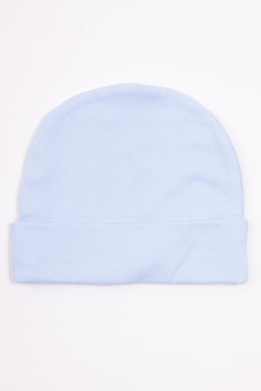 ШапкаШапочки<br>Хлопковая шапочка для новорожденного  Цвет: голубой  Размер соответствует объему головы в сантиметрах<br><br>По сезону: Всесезон<br>Размер : 52<br>Материал: Хлопок<br>Количество в наличии: 1