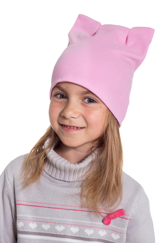 ШапкаГоловные уборы<br>Шапка для девочки защитит Вашего ребенка от непогоды и поднимет настроение.  Размер равен обхвату головы в сантиметрах.  Цвет: розовый<br><br>По сезону: Осень,Весна<br>Размер : 40-45<br>Материал: Трикотаж<br>Количество в наличии: 1