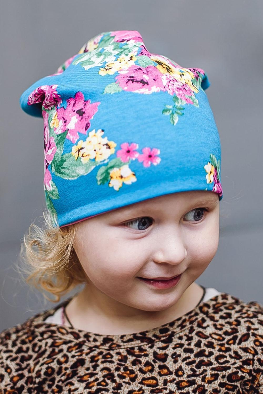 ШапкаГоловные уборы<br>Шапка для девочки защитит Вашего ребенка от непогоды и поднимет настроение.  Размер равен обхвату головы в сантиметрах.  Цвет: розовый, голубой<br><br>По сезону: Осень,Весна<br>Размер : 40-45<br>Материал: Трикотаж<br>Количество в наличии: 1