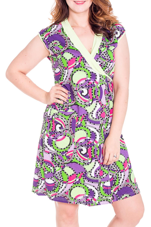 ХалатХалаты<br>Женский халат на запах с короткими рукавами. Домашняя одежда, прежде всего, должна быть удобной, практичной и красивой. В халате Вы будете чувствовать себя комфортно, особенно, по вечерам после трудового дня.  Цвет: салатовый, сиреневый, розовый  Рост девушки-фотомодели 180 см<br><br>Горловина: V- горловина,Запах<br>По рисунку: Цветные,С принтом<br>По силуэту: Полуприталенные<br>По элементам: С запахом,С карманами<br>Рукав: Короткий рукав<br>По сезону: Осень,Весна<br>По длине: До колена<br>По материалу: Трикотаж,Хлопок<br>Размер : 46,48,50<br>Материал: Хлопок<br>Количество в наличии: 6