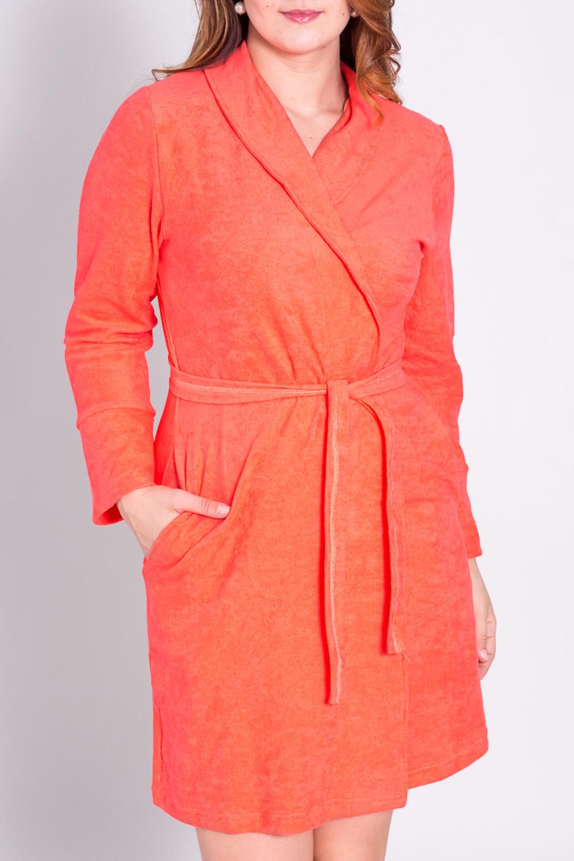 ХалатХалаты<br>Домашний халат на запах. Домашняя одежда, прежде всего, должна быть удобной, практичной и красивой. В халате Вы будете чувствовать себя комфортно, особенно, по вечерам после трудового дня. Пояс в комплект не входит  Цвет: оранжевый  Рост девушки-фотомодели 180 см.<br><br>Горловина: V- горловина,Запах<br>По материалу: Махровые,Трикотаж,Хлопок<br>По рисунку: Однотонные<br>По элементам: С запахом,С карманами<br>По сезону: Осень,Весна<br>По длине: До колена<br>По силуэту: Полуприталенные<br>Рукав: Длинный рукав<br>Размер : 50<br>Материал: Махровое полотно<br>Количество в наличии: 1