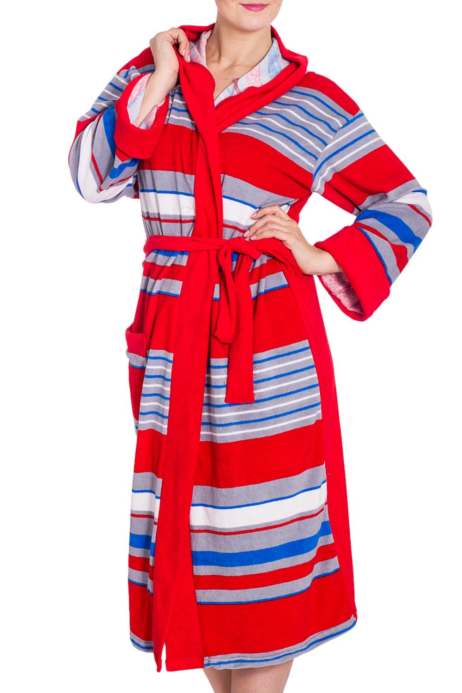 ХалатХалаты<br>Мягкий махровый халат на запах. Домашняя одежда, прежде всего, должна быть удобной, практичной и красивой. В наших изделиях Вы будете чувствовать себя комфортно, особенно, по вечерам после трудового дня. Халат без пояса.  В изделии использованы цвета: красный, голубой и др.  Рост девушки-фотомодели 180 см.<br><br>Горловина: V- горловина,Запах<br>По длине: Ниже колена<br>По материалу: Махровые<br>По рисунку: В полоску,Цветные<br>По силуэту: Полуприталенные<br>По элементам: С карманами<br>Рукав: Длинный рукав<br>По сезону: Всесезон<br>Размер : 56,58<br>Материал: Махровое полотно<br>Количество в наличии: 2