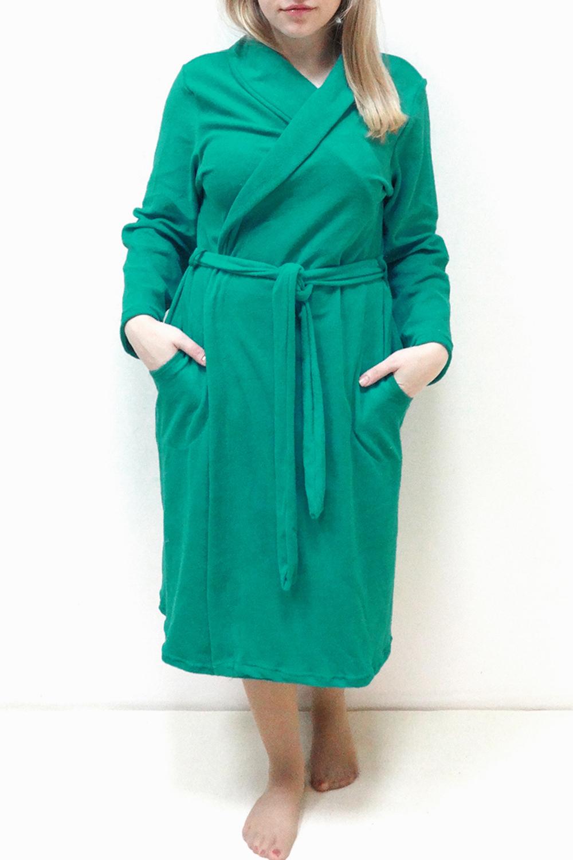 ХалатХалаты<br>Женский домашний халат на запах. Домашняя одежда, прежде всего, должна быть удобной, практичной и красивой. В нашей домашней одежде Вы будете чувствовать себя комфортно, особенно, по вечерам после трудового дня.  Цвет: зеленый  Рост девушки-фотомодели 162 см<br><br>По стилю: Повседневные<br>По материалу: Хлопковые,Махровые,Трикотажные<br>По рисунку: Однотонные<br>По сезону: Всесезон<br>По элементам: С карманами,С поясом<br>По длине: Миди<br>Воротник: Шалька<br>Рукав: Длинный рукав<br>Горловина: Запах<br>Размер: 44,46,48,50,52,54,56,58<br>Материал: 80% хлопок 20% полиэстер<br>Количество в наличии: 8