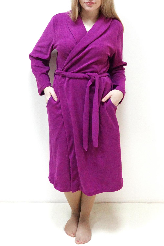 ХалатХалаты<br>Женский домашний халат на запах. Домашняя одежда, прежде всего, должна быть удобной, практичной и красивой. В нашей домашней одежде Вы будете чувствовать себя комфортно, особенно, по вечерам после трудового дня. Пояс в комплект не входит  Цвет: фиолетовый  Рост девушки-фотомодели 162 см<br><br>Воротник: Шалька<br>Горловина: Запах,V- горловина<br>По материалу: Махровые,Трикотаж,Хлопок<br>По рисунку: Однотонные<br>По элементам: С карманами<br>Рукав: Длинный рукав<br>По сезону: Всесезон<br>По длине: Ниже колена<br>Размер : 44,46,48,50,52,54,56,58<br>Материал: Махровое полотно<br>Количество в наличии: 12