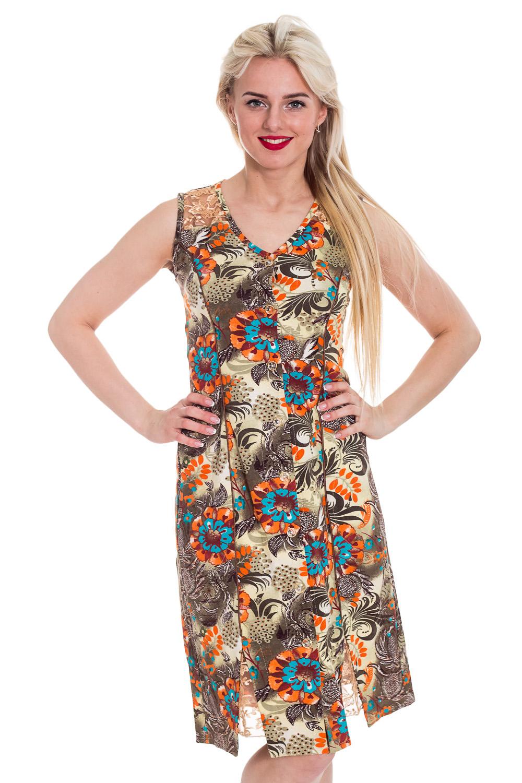 ХалатХалаты<br>Хлопковый халат без рукавов. Домашняя одежда, прежде всего, должна быть удобной, практичной и красивой. В халате Вы будете чувствовать себя комфортно, особенно, по вечерам после трудового дня.  Цвет: мультицвет  Рост девушки-фотомодели 170 см<br><br>По стилю: Повседневные<br>По материалу: Трикотажные,Хлопковые<br>По рисунку: С принтом (печатью),Цветные,Абстракция<br>По сезону: Всесезон<br>По элементам: Без рукавов<br>По длине: Удлиненные<br>Горловина: С- горловина<br>Размер: 42<br>Материал: 100% хлопок<br>Количество в наличии: 1