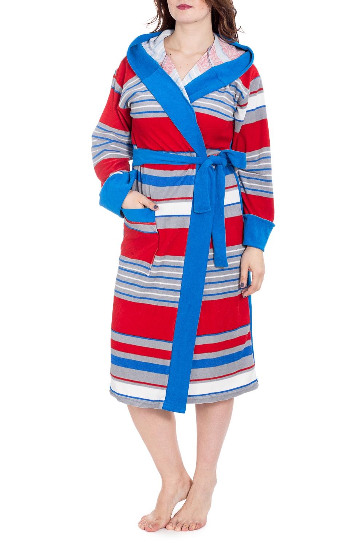 ХалатХалаты<br>Махровый халат на запах. Домашняя одежда, прежде всего, должна быть удобной, практичной и красивой. В наших изделиях Вы будете чувствовать себя комфортно, особенно, по вечерам после трудового дня. Халат без пояса.  В изделии использованы цвета: голубой, красный, белый и др.  Рост девушки-фотомодели 180 см<br><br>Горловина: V- горловина,Запах<br>По длине: Ниже колена<br>По рисунку: В полоску,С принтом,Цветные<br>По элементам: С карманами,С капюшоном<br>Рукав: Длинный рукав<br>По материалу: Махровые<br>По сезону: Всесезон<br>Размер : 54<br>Материал: Махровое полотно<br>Количество в наличии: 1
