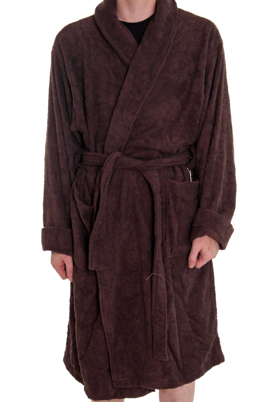 ХалатХалаты<br>Мягкий махровый халат из натурального хлопка. На спинке изделия надпись quot;Любимый мужquot;. Такой халат станет прекрасным подарком для каждого мужчины.  Пояс в комплекте. Цвет: коричневый.<br><br>Размер : 60<br>Материал: Махровое полотно<br>Количество в наличии: 1