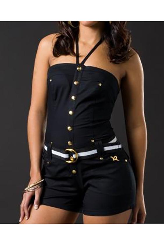 КомбинезонКомбинезоны<br>Молодежный комбинезон с открытыми плечами. Модель выполнена из приятного материала. Отличный выбор для любого случая. Комбинезон без пояса.  В изделии использованы цвета: черный  Ростовка изделия 170 см.<br><br>Рукав: Без рукавов<br>Длина: Мини<br>Материал: Костюмные ткани,Хлопок<br>Рисунок: Однотонные<br>Сезон: Лето<br>Силуэт: Полуприталенные<br>Стиль: Кэжуал,Молодежный стиль,Повседневный стиль<br>Элементы: С декором,С карманами<br>Размер : 44,48<br>Материал: Костюмно-плательная ткань<br>Количество в наличии: 2