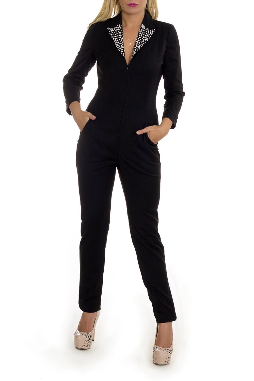 КомбинезонКомбинезоны<br>Стильный женский кардиган приталенного симлуэта с длинными рукавами. Модель станет прекрасной составляющей Вашего модного гардероба.  Цвет: черный.  Рост девушки-фотомодели 170 см<br><br>Воротник: Отложной<br>Горловина: V- горловина<br>По длине: Макси<br>По материалу: Костюмные ткани<br>По рисунку: Однотонные<br>По силуэту: Приталенные<br>По стилю: Классический стиль,Кэжуал,Офисный стиль,Повседневный стиль<br>По элементам: С воротником,С вырезом,С декором,С карманами,С молнией<br>Рукав: Длинный рукав<br>По сезону: Осень,Весна<br>Размер : 42<br>Материал: Костюмная ткань<br>Количество в наличии: 3