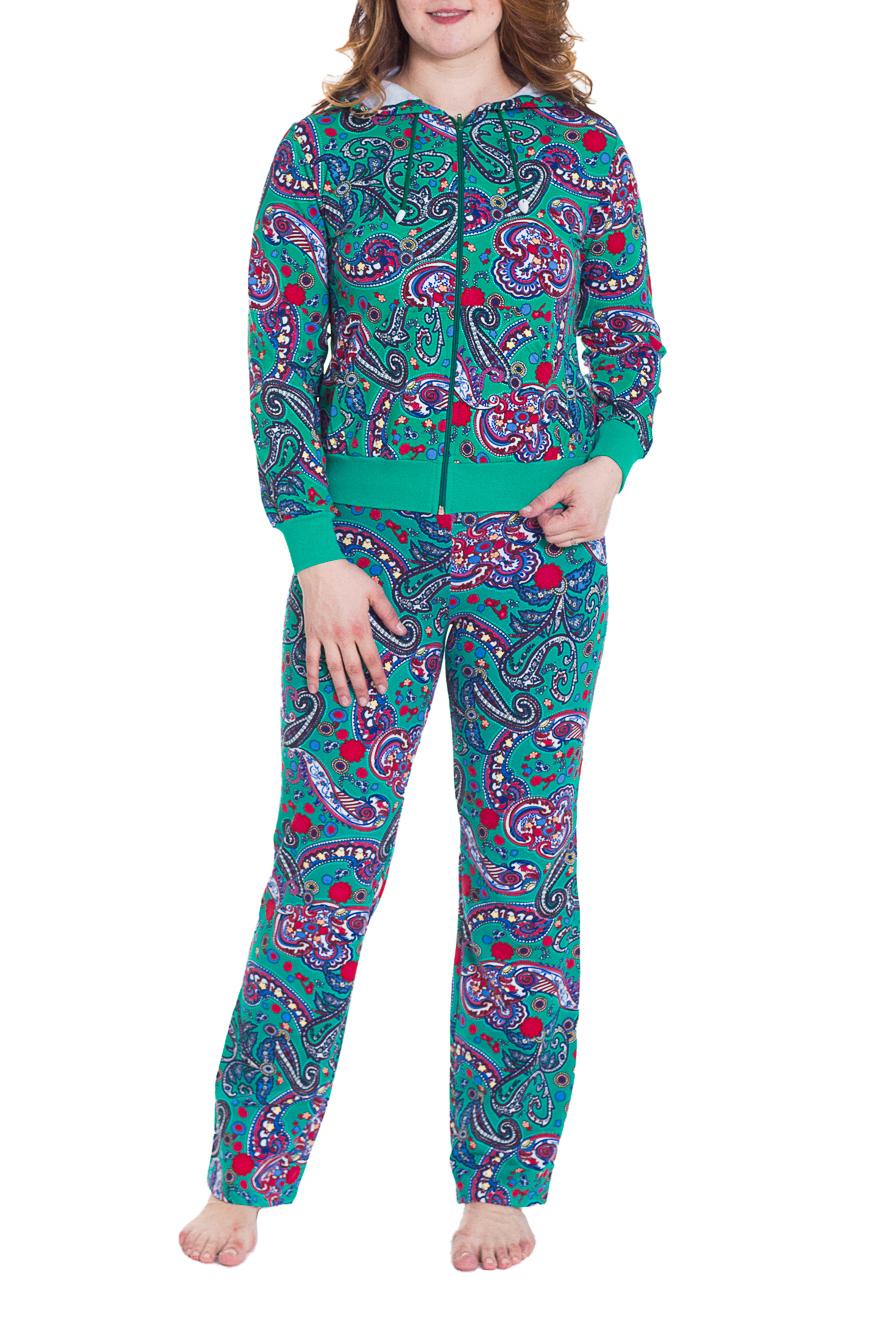 КостюмСпортивные костюмы<br>Женский костюм с длинными рукавами. Комплект состоит из кофты и брюк. Отличный выбор для занятий спортом или активного отдыха.  Цвет: бирюзовый, розовый, сиреневый, красный  Рост девушки-фотомодели 180 см<br><br>Застежка: С молнией<br>По рисунку: Цветные,С принтом,Этнические<br>По сезону: Весна,Осень,Зима<br>По силуэту: Полуприталенные<br>По стилю: Повседневный стиль<br>По форме: Костюм двойка,Спортивные брюки<br>По элементам: С капюшоном,С карманами,С манжетами<br>Рукав: Длинный рукав<br>По длине: Макси<br>По материалу: Трикотаж,Хлопок<br>Размер : 46,48,50<br>Материал: Трикотаж<br>Количество в наличии: 3