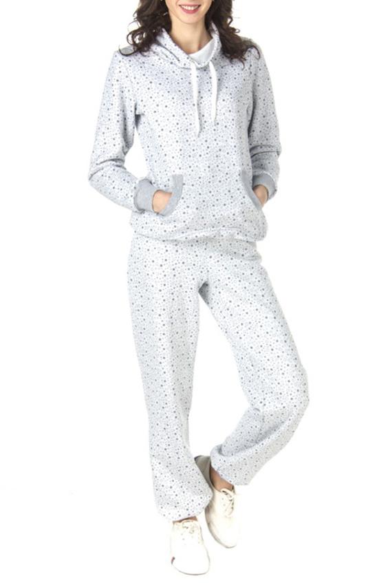КостюмСпортивные костюмы<br>Оригинальный женский костюм (кофта + брюки). Застежка - молния. Цвет: белый, серый<br><br>Воротник: Хомут<br>По длине: Макси<br>По образу: Город<br>По рисунку: Цветные,С принтом<br>По сезону: Весна,Осень<br>По силуэту: Полуприталенные<br>По форме: Костюм двойка,Брюки<br>По элементам: С воротником,С декором,С карманами,С манжетами<br>Рукав: Длинный рукав<br>По материалу: Хлопок<br>По стилю: Повседневный стиль,Спортивный стиль<br>Размер : 42,44,48<br>Материал: Трикотаж<br>Количество в наличии: 3