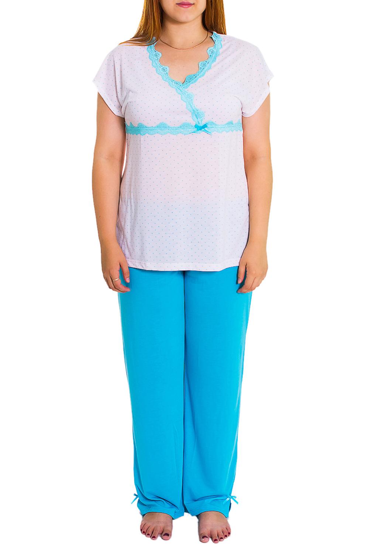 КомплектКомплекты и костюмы<br>Женский комплект без рукавов. Комплект состоит из бридж и футболки. Домашняя одежда, прежде всего, должна быть удобной, практичной и красивой. В комплекте Вы будете чувствовать себя комфортно, особенно, по вечерам после трудового дня.  Цвет: белый, голубой  Рост девушки-фотомодели - 169 см<br><br>Горловина: V- горловина<br>По рисунку: Цветные<br>По сезону: Весна,Осень<br>По силуэту: Полуприталенные<br>По форме: Костюм двойка,Брючный костюм<br>Рукав: Короткий рукав<br>По длине: Ниже колена<br>По материалу: Трикотаж<br>Размер : 52<br>Материал: Трикотаж<br>Количество в наличии: 1
