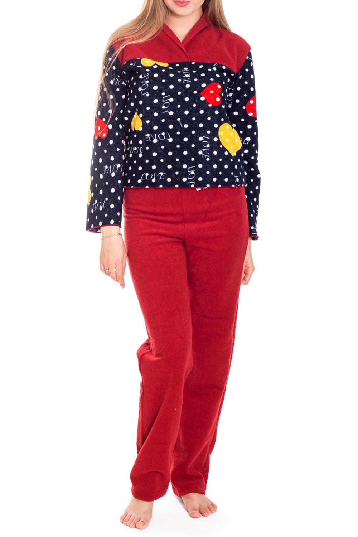ПижамаМягкая и теплая флисовая пижама. Домашняя одежда, прежде всего, должна быть удобной, практичной и красивой. В нашей домашней одежде Вы будете чувствовать себя комфортно, особенно, по вечерам после трудового дня.  Цвет: красный, синий  Рост девушки-фотомодели 170 см.<br><br>По длине: Макси<br>По рисунку: Цветные,С принтом<br>По силуэту: Полуприталенные<br>По форме: Брючные,Костюм двойка<br>Рукав: Длинный рукав<br>По сезону: Зима<br>Размер : 46-48<br>Материал: Флис<br>Количество в наличии: 3